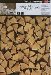 Naklejki panel ścienny drewno