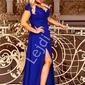 Chabrowa sukienka na studniówkę , wesele, bal z rozporkiem crystal 2