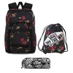 Plecak szkolny vans ranger botanical check - vn0a3ng2uwx + worek i piórnik