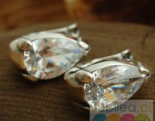 Barbara - srebrne kolczyki z kryształem swarovskiego