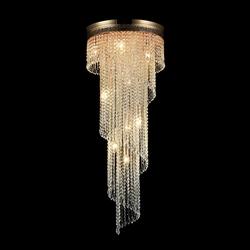 Oświetlenie kaskada kryształów cascade maytoni classic dia522-cl-12-g