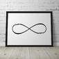 Nieskończoność - personalizowany plakat dla pary , wymiary - 30cm x 40cm, kolor ramki - czarny