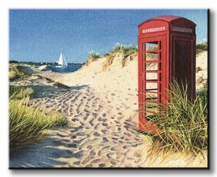 Beach kiosk - obraz na płótnie
