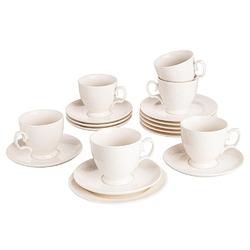 Serwis  zestaw kawowy dla 6 osób porcelana mariapaula ecru queen 18 elementów
