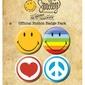Smiley Icons - zestaw 4 przypinek