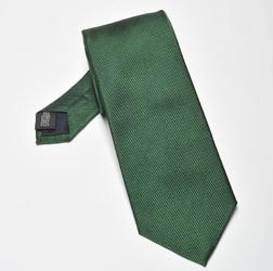 Krawat jedwabny butelkowa zieleń, wąski 6,5cm