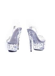 Buty erotyczne pole dance srebrne cyrkonie : rozmiar buta - 40