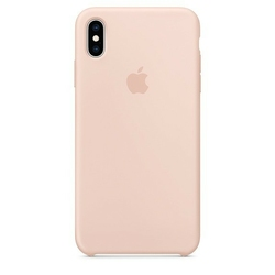 Apple Etui silikonowe iPhone XS Max - piaskowy róż