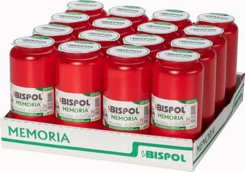 Bispol, wkład olejowy do znicza, czerwony, 108 godzin palenia, 16 sztuk