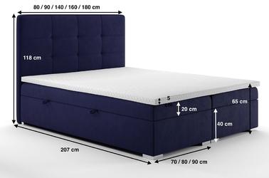 Eleganckie tapicerowane łóżko kontynentalne do sypialni cesar z pojemnikiem na pościel