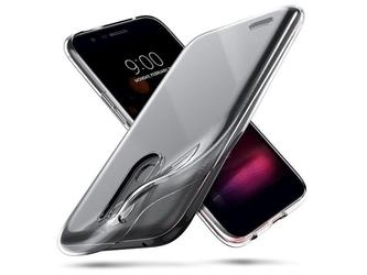 Etui silikonowe przezroczyste do lg k10 2018 + szkło 9h