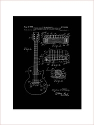 Gitara elektryczna projekt 1955  - retro plakat wymiar do wyboru: 59,4x84,1 cm