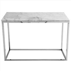 Rge :: konsola accent marmur srebrno-biała szer. 100 cm