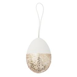 Ozdoba wielkanocna biało-złote jajko bloomingville