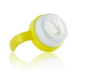 Uchwyt z miękkim ustnikiem do termobutelki 3w1 pacificbaby żółty