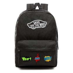 Plecak vans realm backpack custom wtf - vn0a3ui6blk - wtf