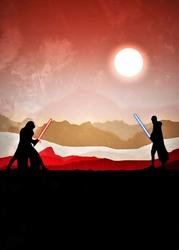 Star Wars Gwiezdne Wojny Vintage Poster v3 - plakat Wymiar do wyboru: 21x29,7 cm