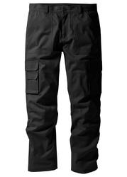 Spodnie quot;bojówkiquot; z powłoką z teflonu regular fit straight bonprix czarny