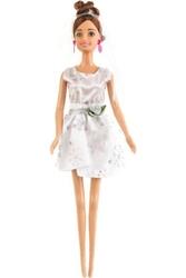 Lalka anlily - panna młoda - brąz