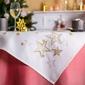 Obrus na stół świąteczny boże narodzenie altom design biały  złote gwiazdki 85 x 85 cm