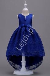 Chabrowa sukienka koronkowa dla dziewczynki 139