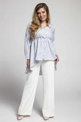 Asymetryczna koszulowa tunika  plus size