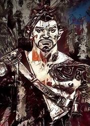 Legends of bedlam - hanzo, overwatch - plakat wymiar do wyboru: 59,4x84,1 cm