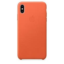 Apple Etui skórzane iPhone XS Max - oranż