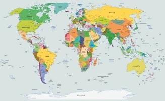 Fototapeta world map mapa świata xxxl flizelinowa