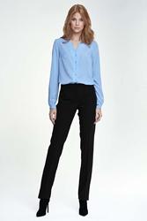 Czarne spodnie eleganckie z kantem
