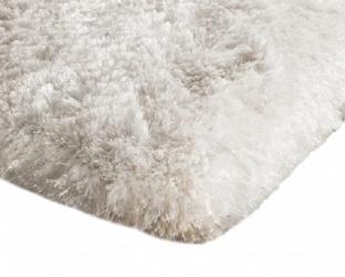 Shaggy dywanik łazienkowy pluszowy wysoki 60x90 biały