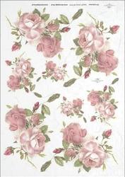 Papier ryżowy ITD A4 R359 róże