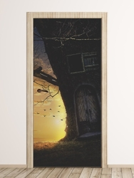Fototapeta na drzwi dla dzieci domek w drzewie fp 6013