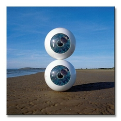 Pink floyd pulse eyeballs - obraz na płótnie