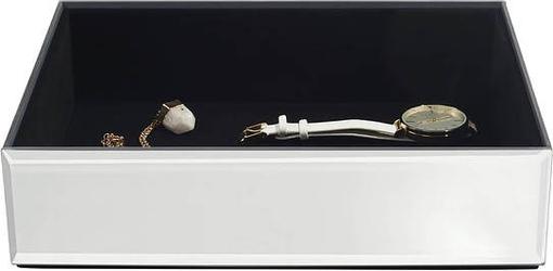 Szkatułka na biżuterię stackers open classic velvet szklana z czarną wyściółką