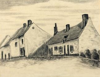 The zandmennik house, vincent van gogh - plakat wymiar do wyboru: 70x50 cm