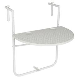 Stolik balkonowy 59,5x40 cm biały do zawieszenia składany