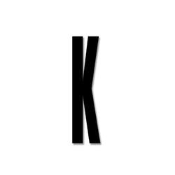 Litera czarna akrylowa 8 cm Design Letters K