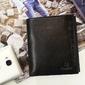 Skórzany portfel męski krenig classic 12040 czarny - czarny