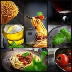 Obraz pasta collage