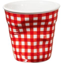 Kubek porcelanowy do espresso revol vichy czerwona kratka rv-641116-6
