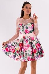 Soky soka  sukienka jasny róż 49008-2