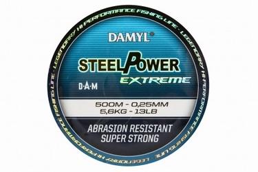 Żyłka morska damyl steelpower x-treme 500m 0,25mm 5,6kg dam