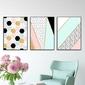 Zestaw trzech plakatów - mix design , wymiary - 70cm x 100cm 3 sztuki, kolor ramki - biały
