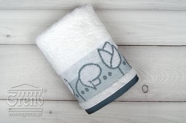 Tulipano biały ręcznik bawełniany greno - biały