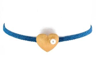 Choker naszyjnik drobny serce - serce