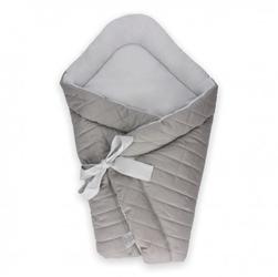 Dwustronny rożek niemowlęcy wafel gray