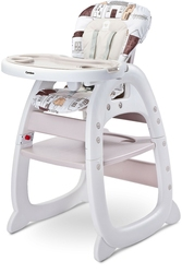 Caretero homee beige krzesełko do karmienia 2w1 + puzzle
