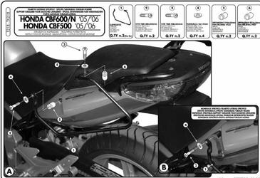 Kappa TK218 Stelaż sakw Honda Cbf 500 600 1000