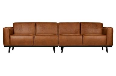 Be pure sofa statement 4-osobowa 280 cm ekoskóra koniakowa 378657-09